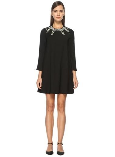 Beymen Club İnci Detaylı Mini Elbise Siyah